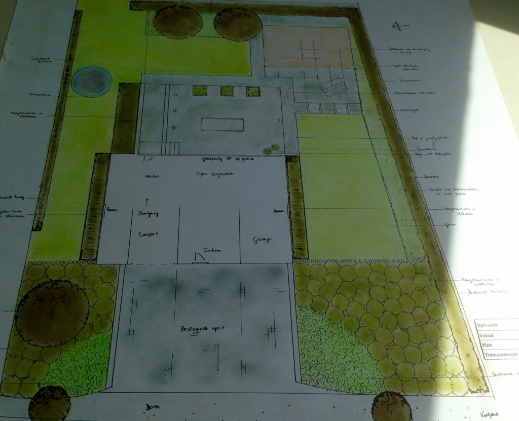 Herinrichten met behoud van bestaand terras