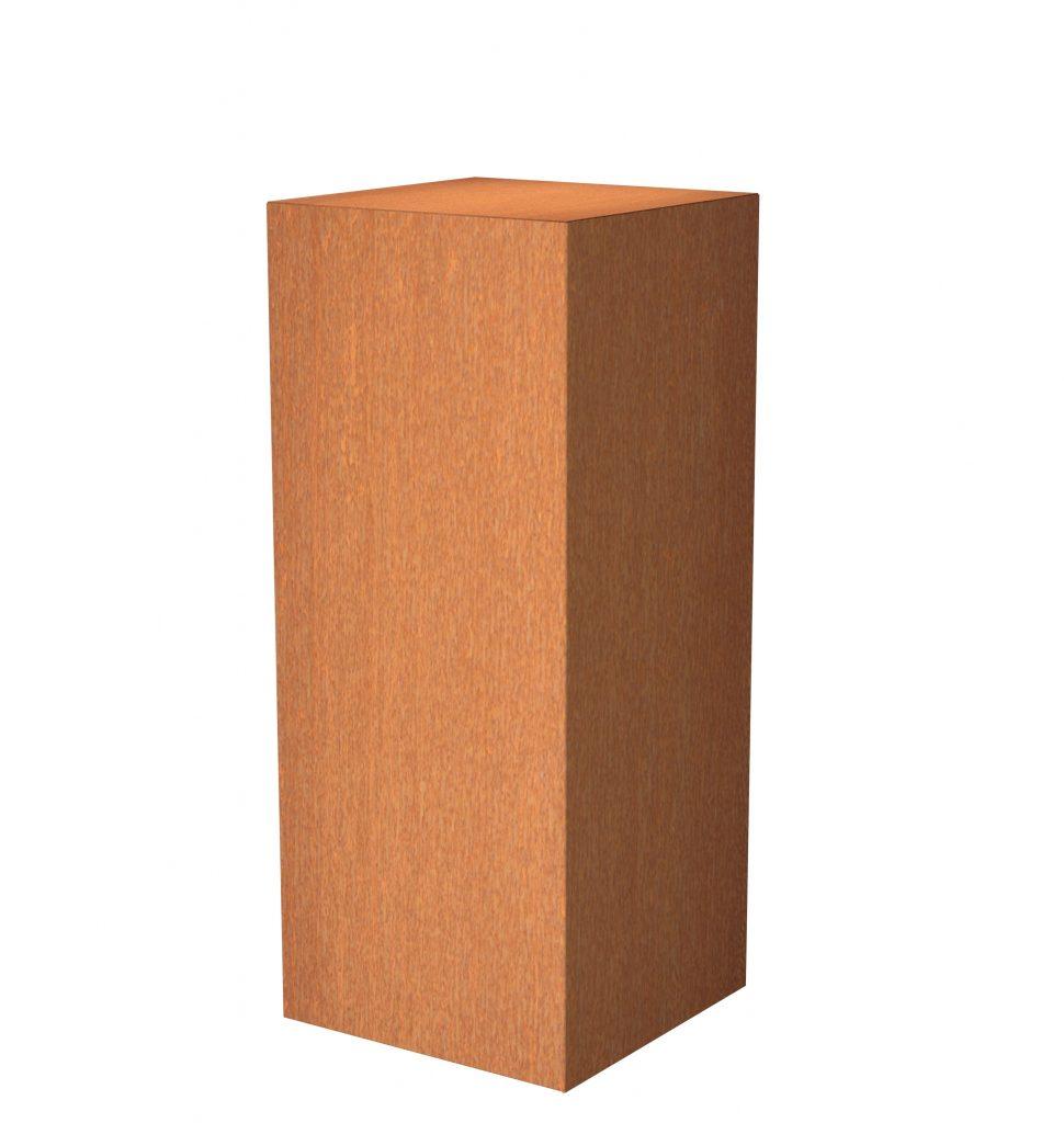 Pedestal cortensteel