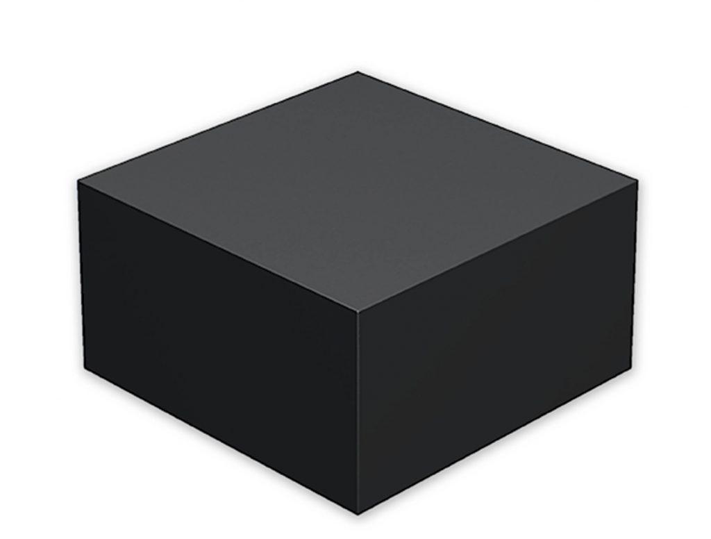 aluminium pedestal black