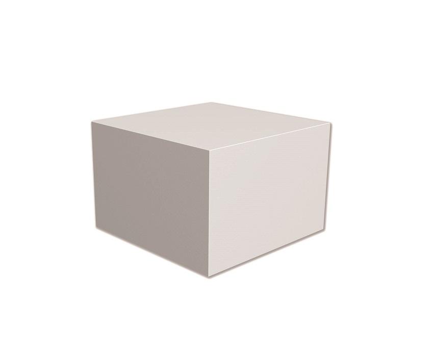 aluminium pedestal white